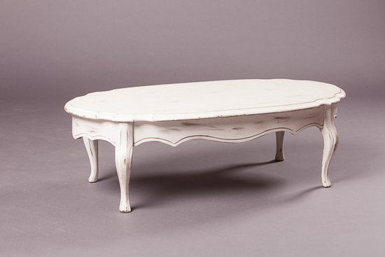 VPS Coffee Table Leona White Oval Vintage Coffee Table Southern Events