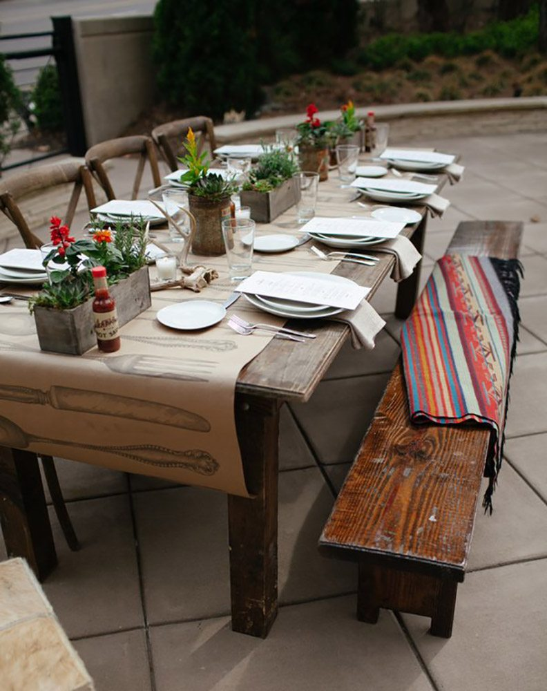 Urban Dining Chairs and Urban Side Table. Farm Tables Archives   Southern Events Party Rental Company