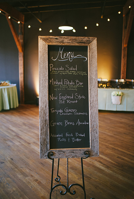 Southern Events Farm Table Chalkboard Houston Station Wedding