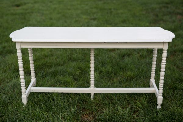 Ashley Buffet Table, Vintage Ivory Buffet Table Southern Events Nashville_600_400