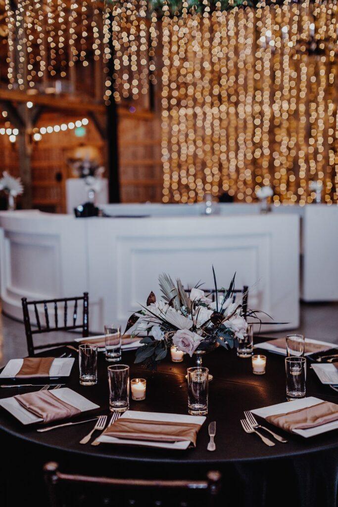 boho luxe wedding table