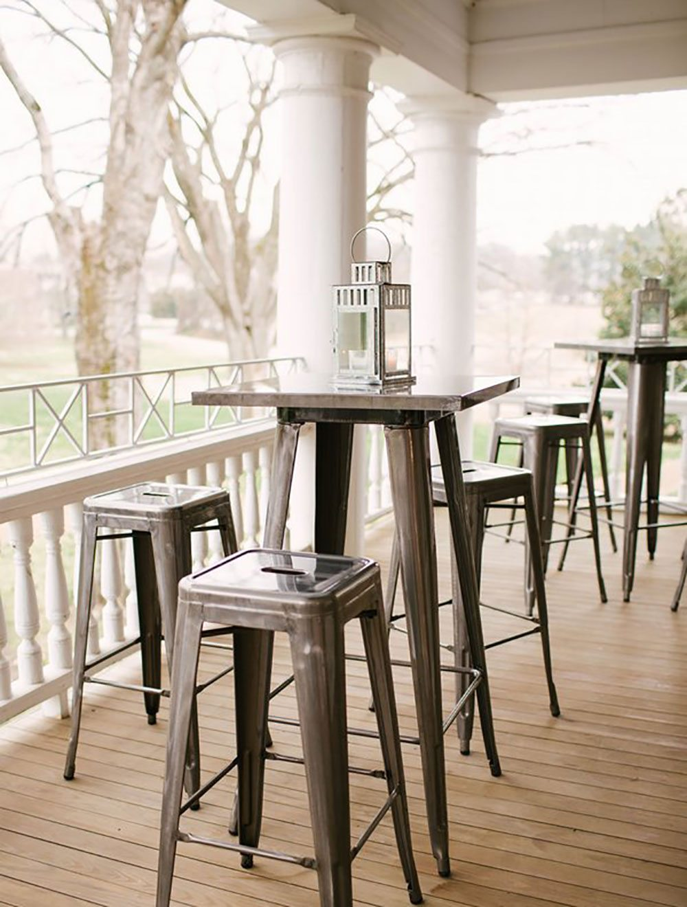 gunmetal remington bistro table