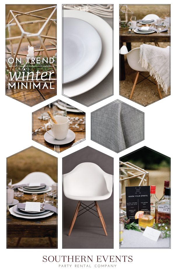 southern events online on trend winter minimalism
