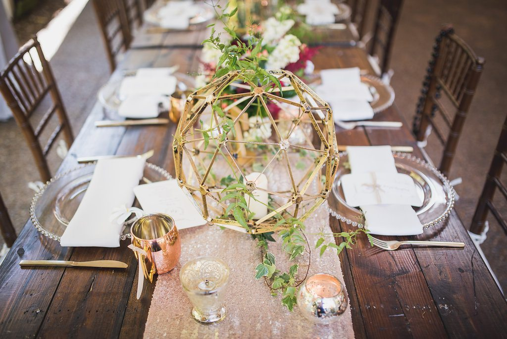 Chic Rose Gold Wedding At Cjs Off The Square Southern Events