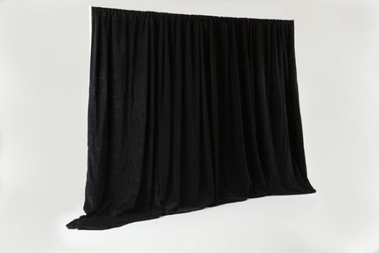 black pipe and drape photo station