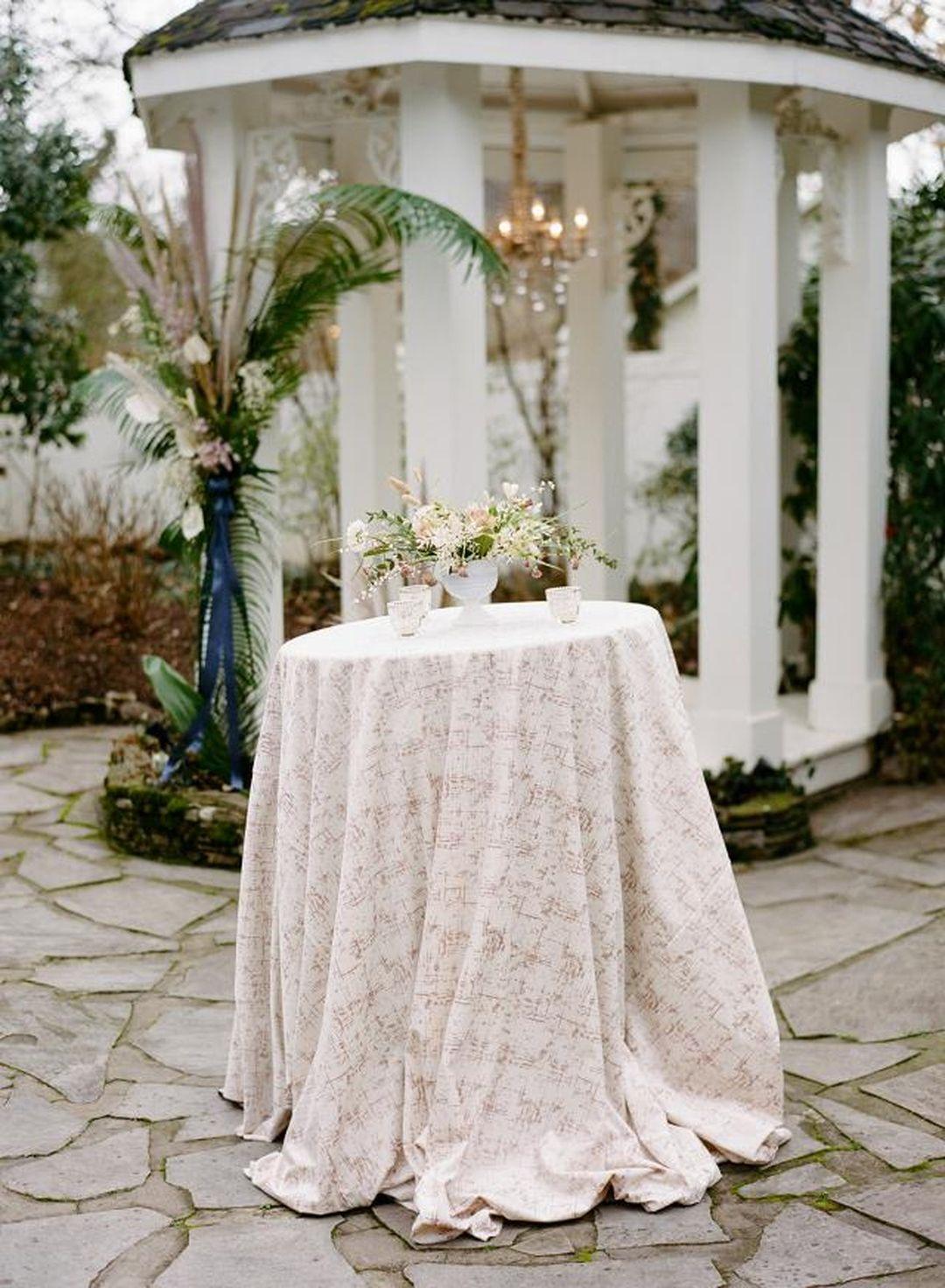 cream etched velvet bistro table