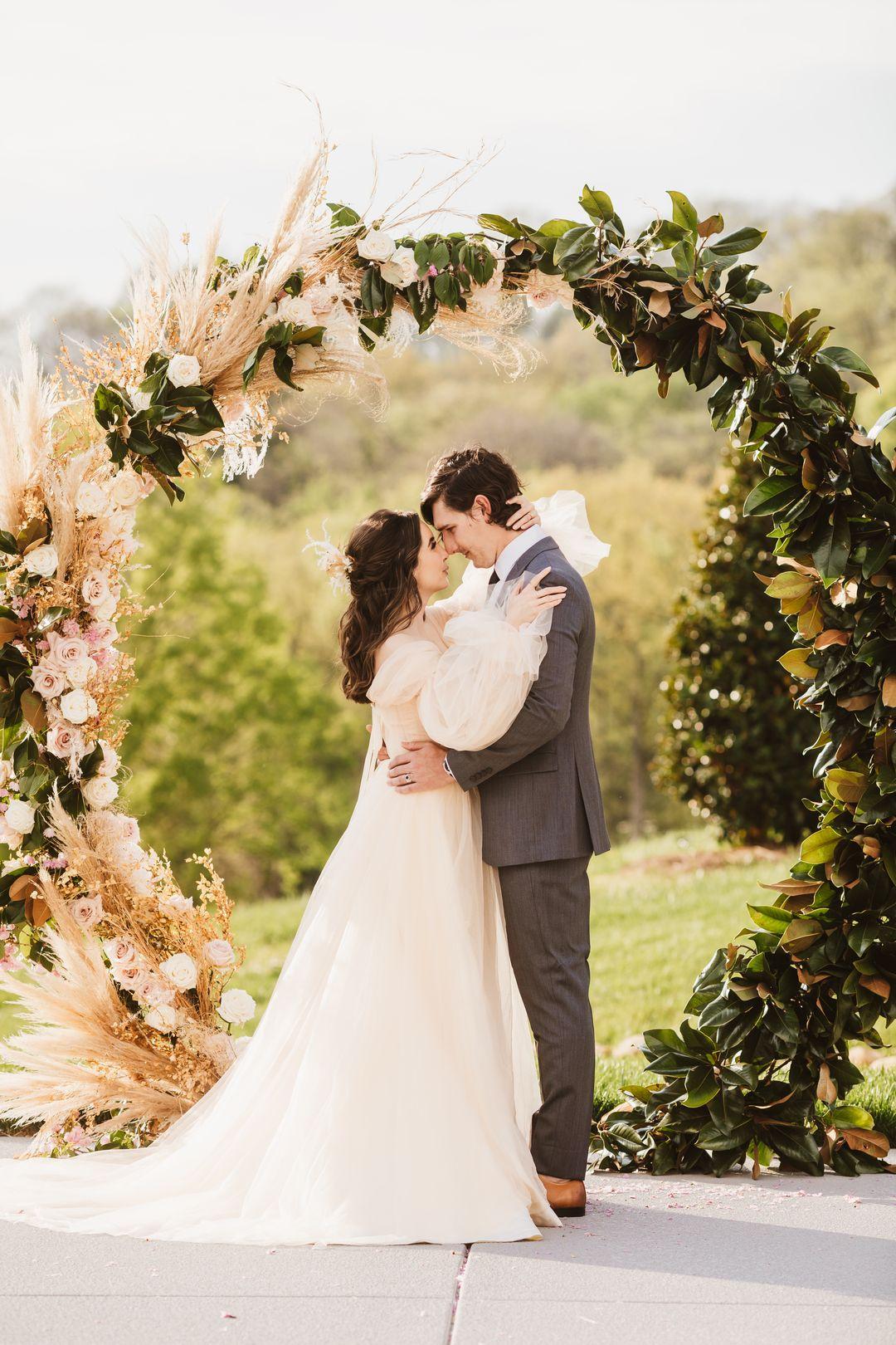 wedding backdrop at the barn at Cranford Hollow