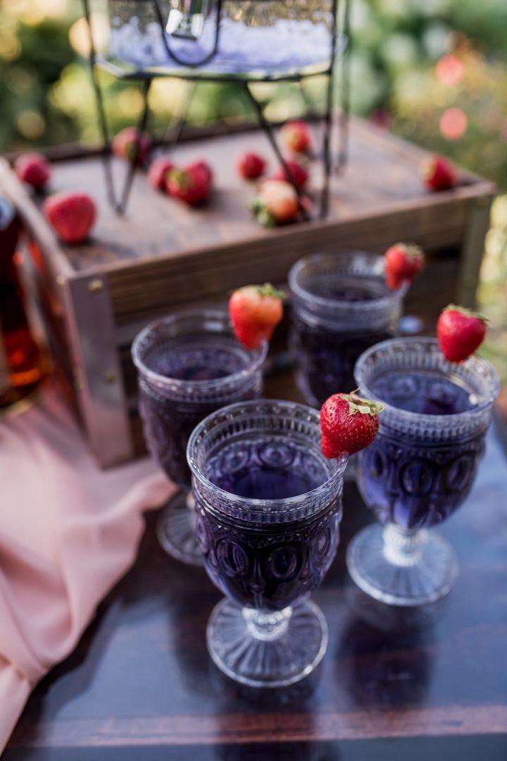 Hob Nob glassware for outdoor summer event