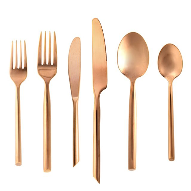 Americana Inspired Event Rentals Copper Flatware