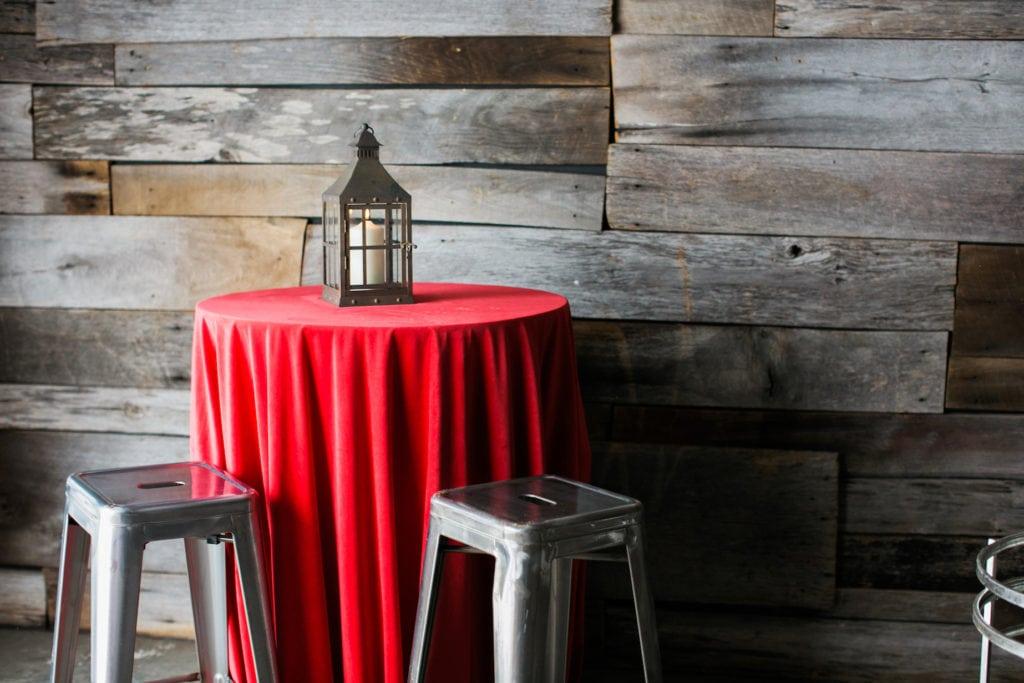 Americana Inspired Event Rentals Red Velvet Linens