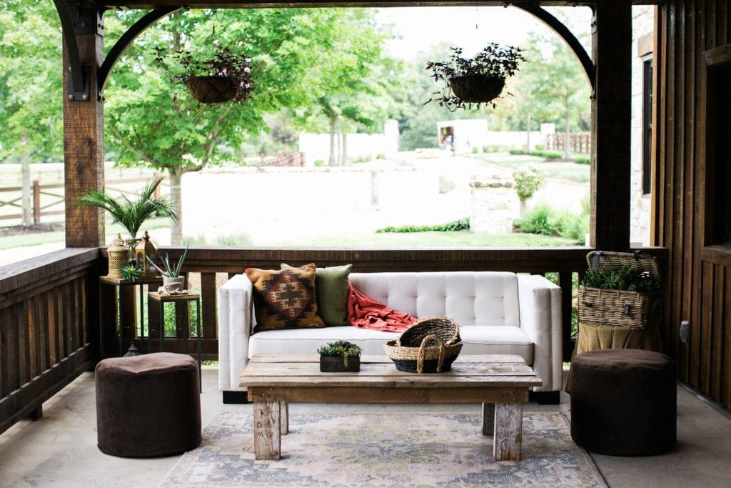 Americana Inspired Event Rentals Barnwood Coffee Table