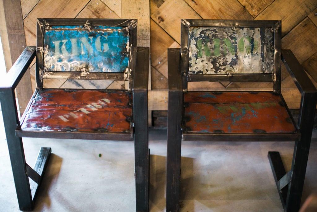 Americana Inspired Event Rentals Urban Metal Armchair