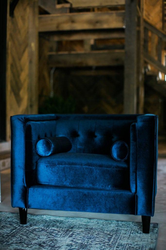Americana Inspired Event Rentals Saylor Navy Velvet Chair