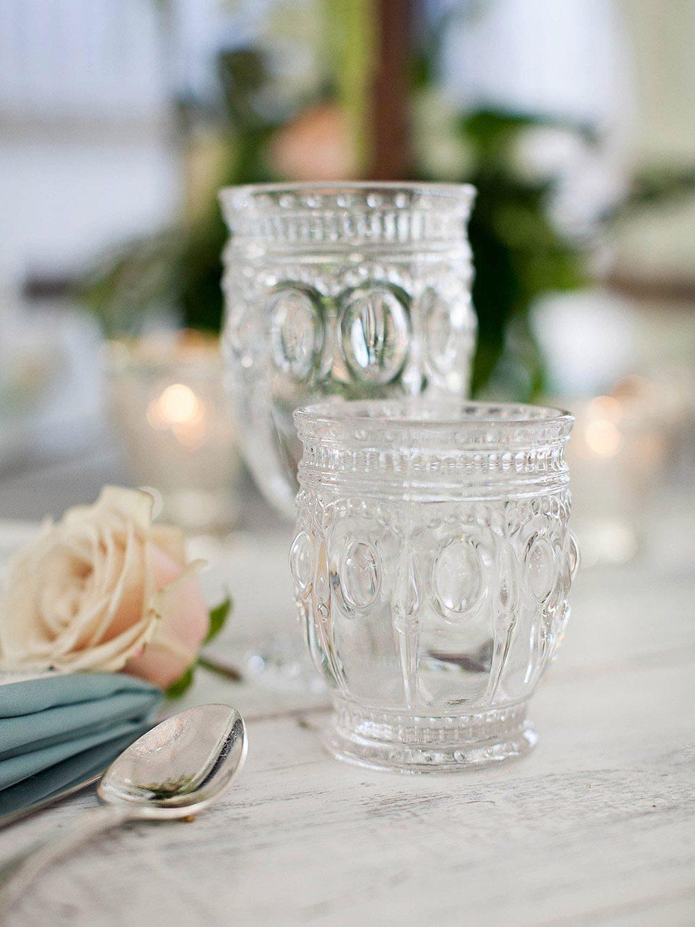 vintage inspired glassware