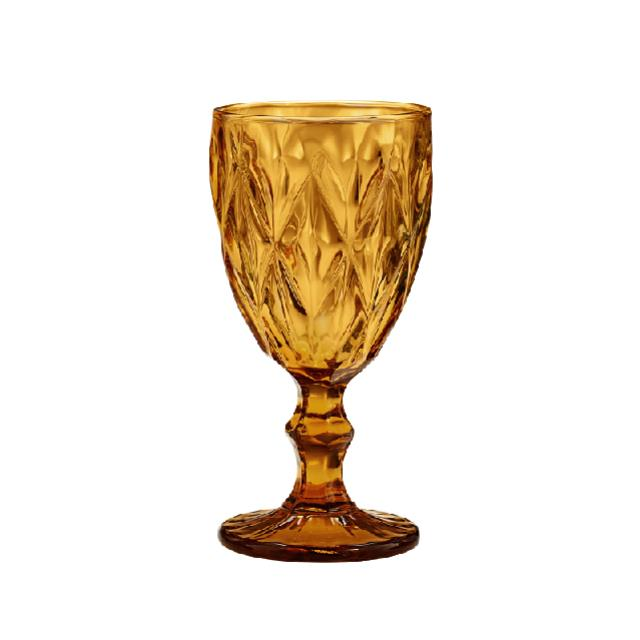 amber colored antique glassware