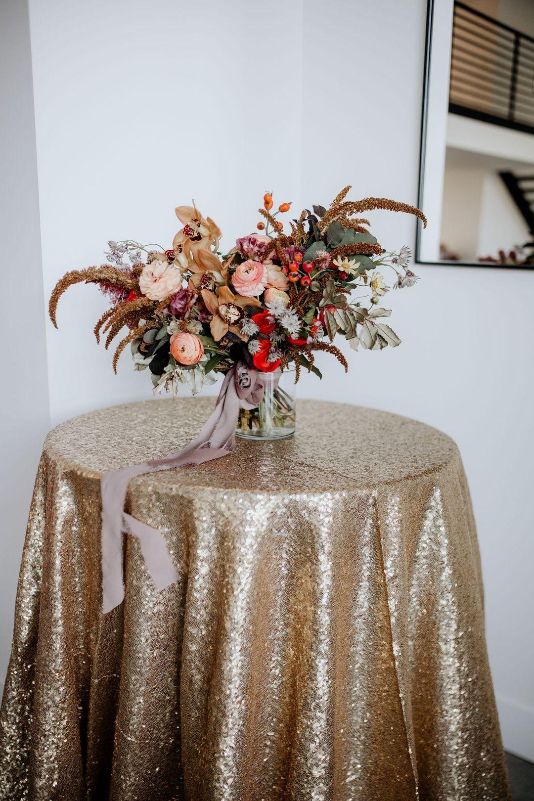 glam boho cocktail table