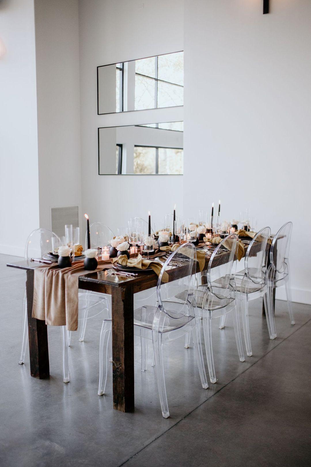 contemporary boho chic tablescape