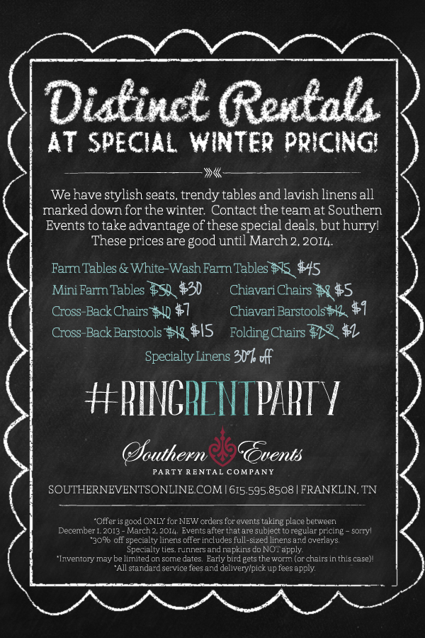 Southern Events Winter 2013 Promotion