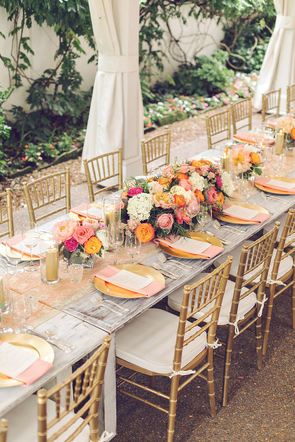 Southern Events, Gold and Coral Table, CJ's Off the Square, Amy Nicole (16)