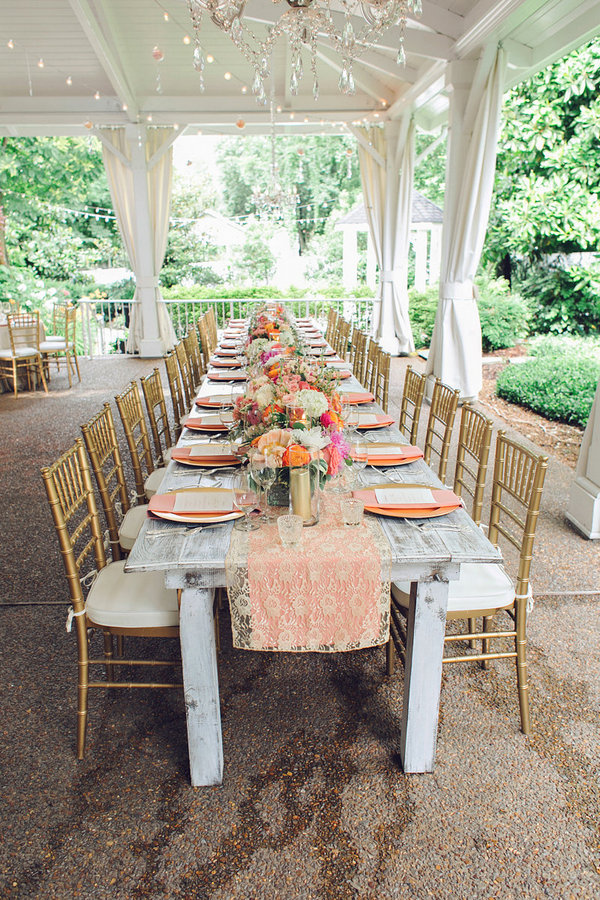 Southern Events, Gold and Coral Table, CJ's Off the Square, Amy Nicole (7)