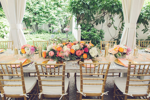 Southern Events, Gold and Coral Table, CJ's Off the Square, Amy Nicole (9)