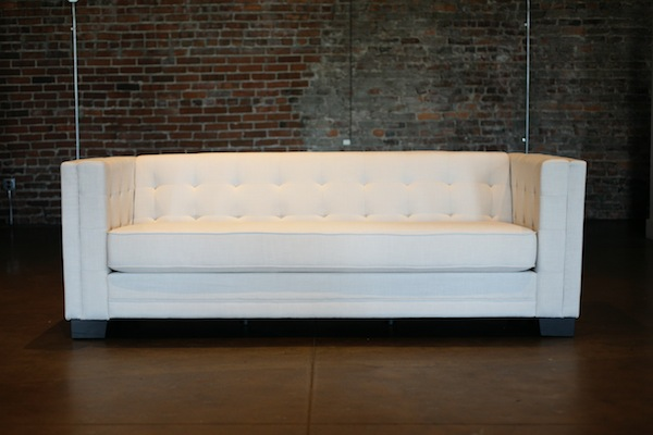 Santorini Couch, White Tufted Couch, Southern Events Nashville (2)