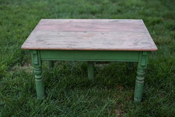Tucker Coffee Table, Vintage Wood Table, Southern Events Nashville_600_400