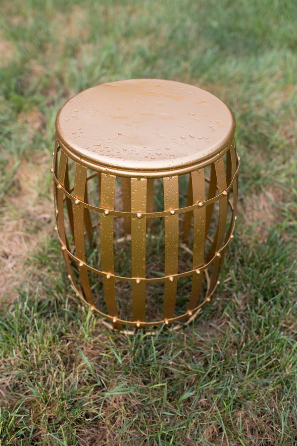 Gold Drum Side Table, Southern Events Party Rental_600_900
