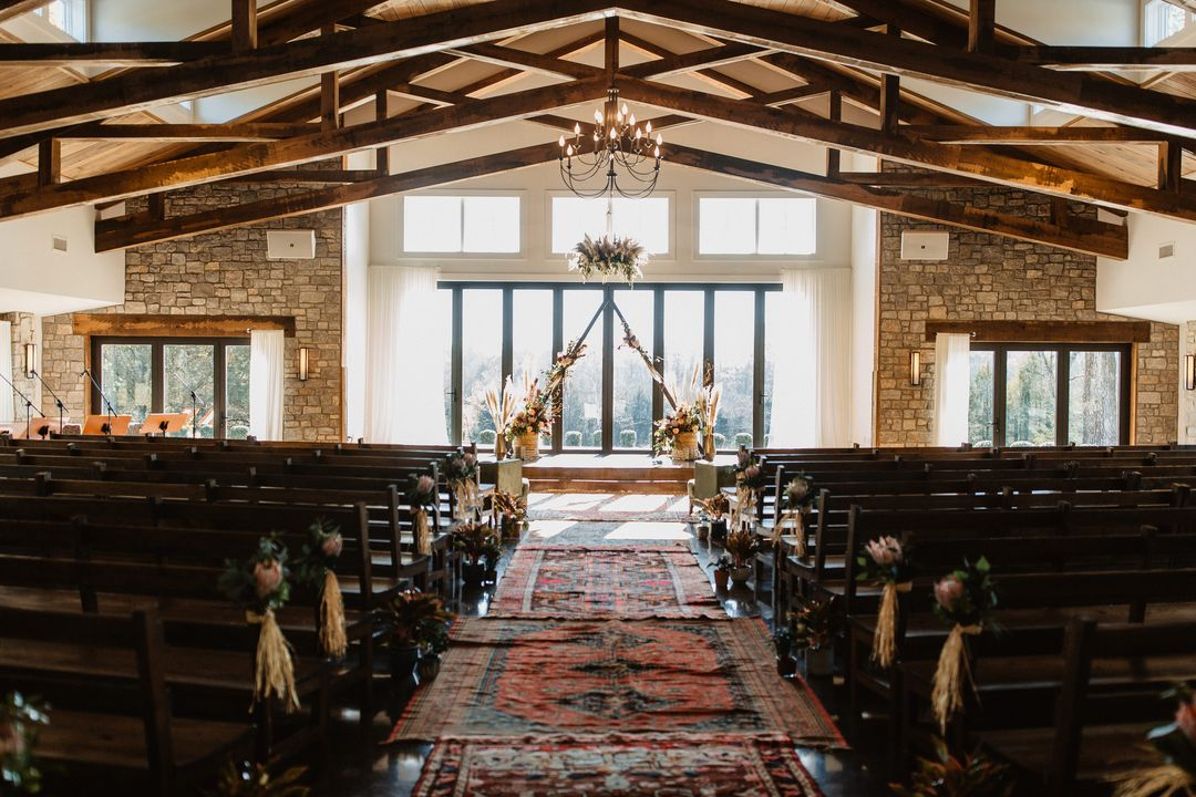 area rug aisle boho wedding