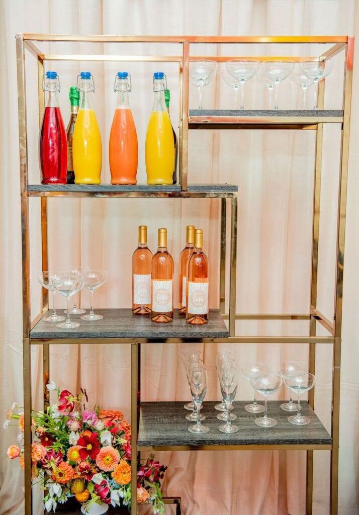 gold bar shelf