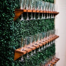 interactive champagne wall
