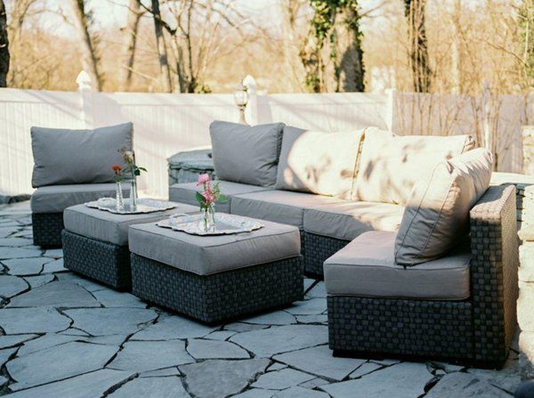 cream outdoor sofa