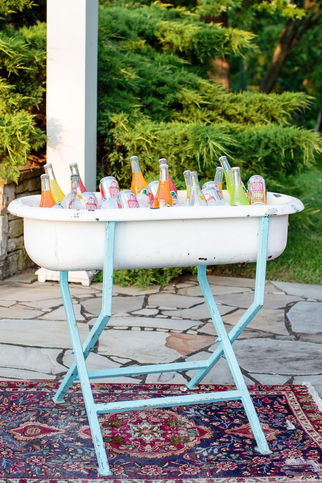 vintage drink washtub