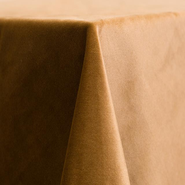 golden velvet linens