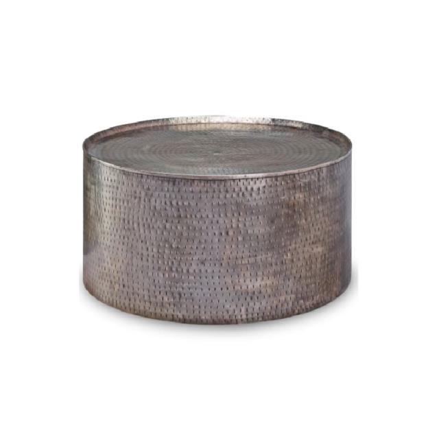 hammered pewter coffee table