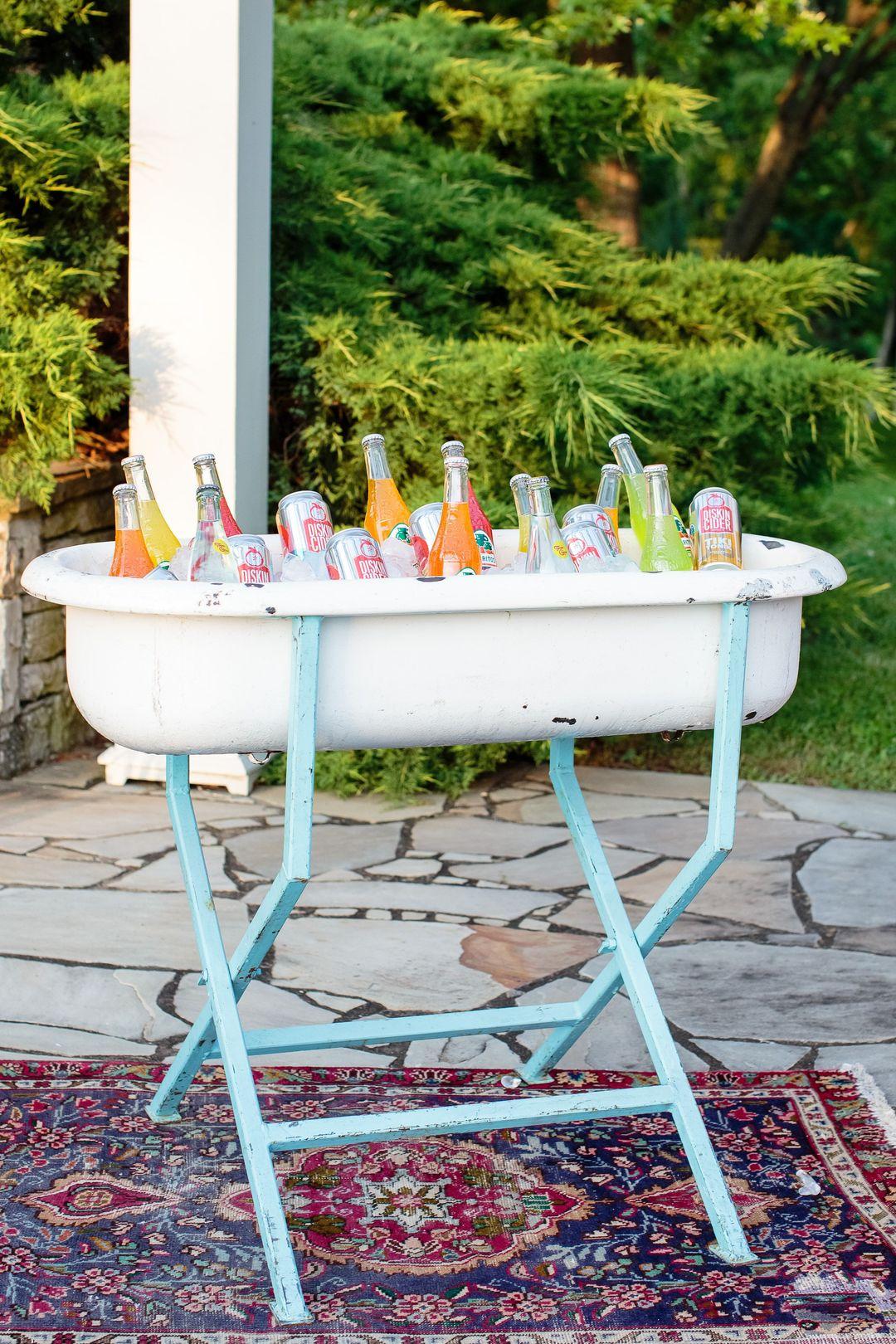 vintage drink tub