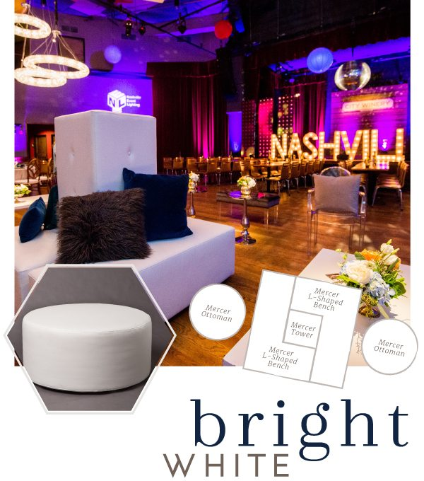 Event lounge style bright white