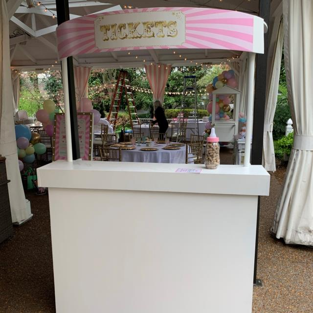 event ticket booth for rent
